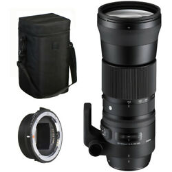 Sigma 150-600mm 5-6.3 C Dg Os Hsm Lens For Canon + Mc-11 Adapter For Sony E Kit