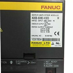 1pcs Used Fanuc A06b-6080-h303 Servo Amplifier Tested In Good Conditionqw