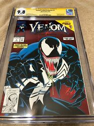 Venom Lethal Protector 1 Cgc 9.8 Ss Stan Lee Auto 1993 Red Holofoil Cover