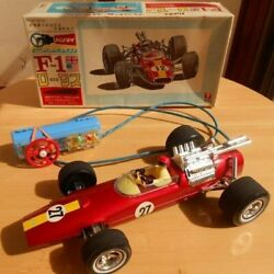 Bandai Tinplate Toy Handle Remote Control F-1 Lotus With Box F/s From Japan