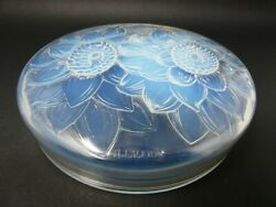Rene Lalique Opalescent Glass And039trois Dahliasand039 Box
