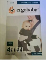 Brand Newergo Baby Four Position 360 Carrier Cool Air Mesh Carbon Gray