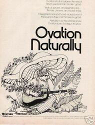 1974 Super Artist Ad For The Natural Ovation Guitar