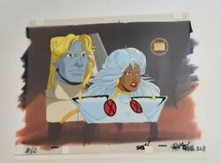 X-men The Animated Series - Storm And Ang Marvel Animation Production Cel