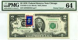 2 Dollars 1976 Stamp Cancel State Flag From Wyoming Lucky Money Value 1976