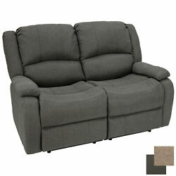 Charles Collection 58 Cloth Double Recliner Wall Hugger Rv Sofa Couch Fossil
