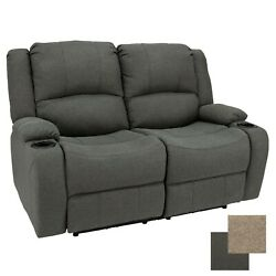 58 Cloth Powered Double Wall Hugger Recliner Sofa Couch Rv Furniture Fossil
