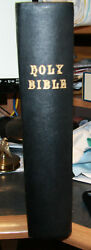 Large Antique C1890 Family Holy Bible Blank Family Pages Illustrated