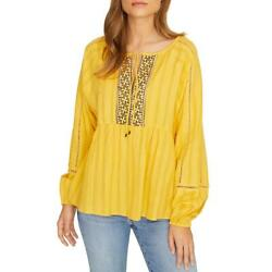 Sanctuary Womens Summer Embroidered Eyelet Tee Peasant Top Shirt BHFO 6842