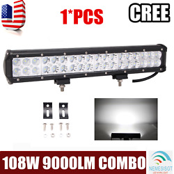 17inch 108w Led Work Light Bar Combo Driving Offroad 4wd Ford Truck Atv Ute 18