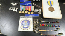 Wwii And Post Us Air Force Officer Grouping Medals Pins