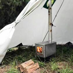 Titanium Camping Wood Stoves Multipurpose Tourist Cooker And Tent Heater Outdoor