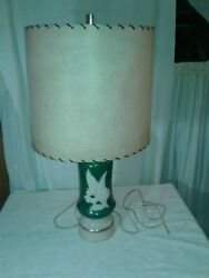 Mid- Century Alacite Aladdin Electric Lamp, Lily Of The Valley Pattern