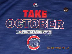 Nwt Chicago Cubs Baseball Hoodie 2015 Playoffs Take October Xl Nos Awesome Pattn