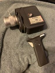 Vintage Argus Mansfield Holiday 8mm Zoom Movie Camera W/ Case And Directions