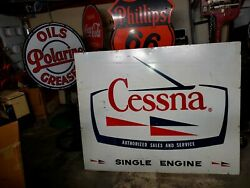 Old Cessna Airplane Sale And Service .see Porcelain Neon Signs For Case,john Deere