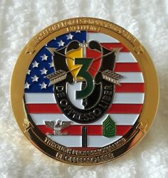 Authentic 3rd Special Forces Group Airborne Numbered 258 Rare Challenge Coin