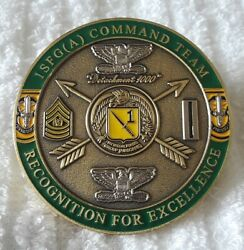 Authentic 1st Special Forces Group Airborne First In Asia Rare Challenge Coin