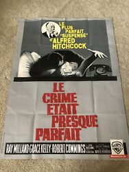 Original Huge French Alfred Hitchcock Dial M For Murder 1954 Litho Movie Poster