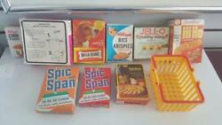 Vintage Rare Child's Pretend Food+boxes-diapers-cereal-jello-+canned Goods+more