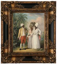 Brunias Free West Indian Dominicans 1770 Wood Framed Canvas Print Repro 8x10