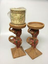 Elephant Candle Stand Set Of 2