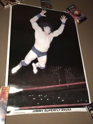 Wwf Poster - Signed Jimmy Superfly Snuka Poster - Wrestlemania Poster 1983 - Wwe