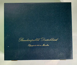 1972 Munich Olympic Silver Coin Complete 24 Piece Set Choice Uncirculated
