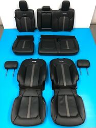 2018 FORD F150 PLATINUM FRONT & REAR SEAT COVER WITH FOAM BLACK & GRAY LEATHER