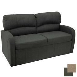65 Rv Jack Knife Sleeper Sofa With Arms Fold Flat Rv Furniture Bed Fossil Cloth