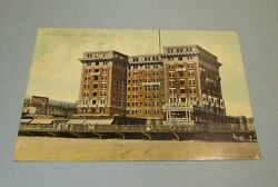 1907 Hotel Chalfonte Atlantic City New Jersey Postcard With Coca-cola Sign