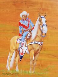 Roy Rogers And Trigger 24 X 36 Photoart Artwork By Katie West- Free Shipping