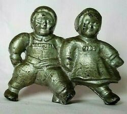 Campbell Soup Kids 1910 Cast Iron Figural Still Bank Advertising A C Williams