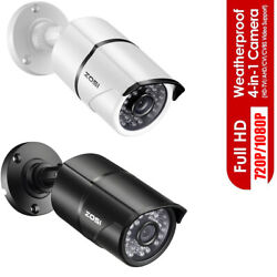 ZOSI HD 2MP 4in1 Outdoor Home 100ft Night Vision CCTV Bullet Security Camera