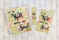 It Is Well With My Soul -disc Bound Planner Cover Set Dashboard Bookmark Faith