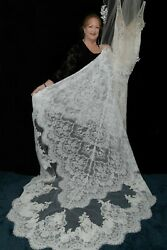 ENZOANI COUTURE MASHA 💕 $3599 10 IVORY LACE CHAMPAGNE RHINESTONE WEDDING DRESS