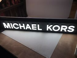 Michael Kors Sign Electric Display Authentic Huge Light Fashion Purse Jewelry $769.00