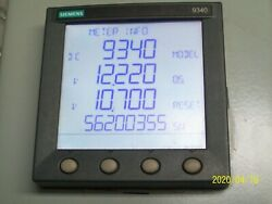 Siemens Access 9340dc Meter W Display 9340-60-ether Ethernet Communication Card