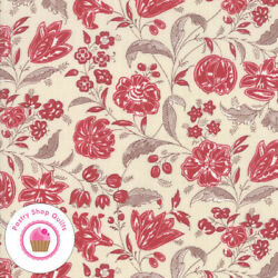 Moda CHAFARCANI 13853 12 Red Brown Floral FRENCH GENERAL Quilt Fabric