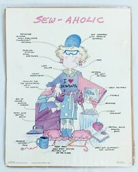 Vintage Sew-aholic Poster 20 X 16 Sewing Room Wall Decor Sealed And New