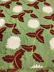 Bright Multi-colored High Quality Linen Embroidery Upholstery Fabric. India Made
