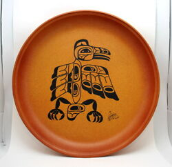 Vintage Large Blue Mountain Pottery Canada Native Artist Series Plate