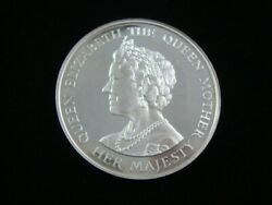 1980 Andldquoqueen Elizabeth 80th Birthdayandrdquo Large Proof Silver Medal By Spink Nice