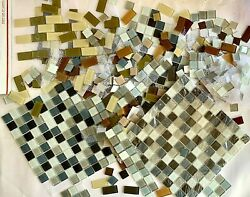 Destash Glass Tile Lot, Earth Colors, Approx. 500, 1 Squares And 1 X 2 Rectangles