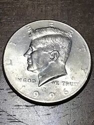 1996 P, Half Dollar With Error In Good Condition Collectible Rare Be The Circle