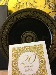 """Versace Charger Plate Gold Baroque Wall 20 Years Rosenthal 12"""" Collectible"""