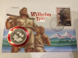 Suriname 100 G. 1991 Wilhelm Tell / Red Cross / Helvetic Confederation Fdc