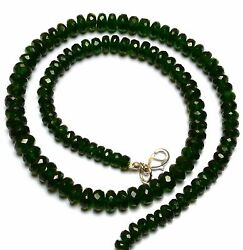 Super Top Quality Chrome Diopside Facet Big 6 To 8mm Rondelle Beads Necklace 16