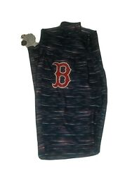 Women#x27;s Majestic Blue and Red Boston Red Sox Space Dye Leggings Size Large