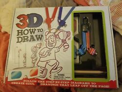 Top That Publishing 3d Learn How To Draw Art Kit Book 3d Glasses Pencils+ New